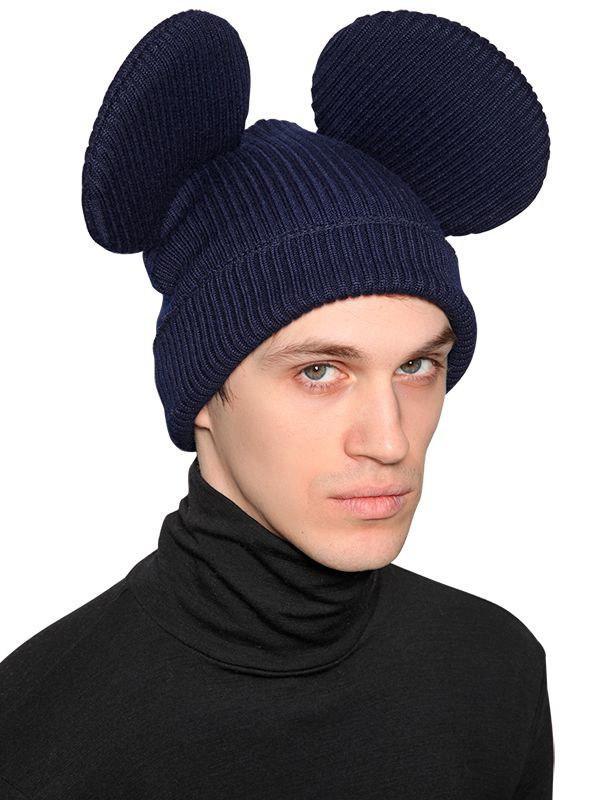 Lyst - Comme des Garçons Mouse Ears Wool Blend Rib Knit Beanie in ... e88ec6986a4f