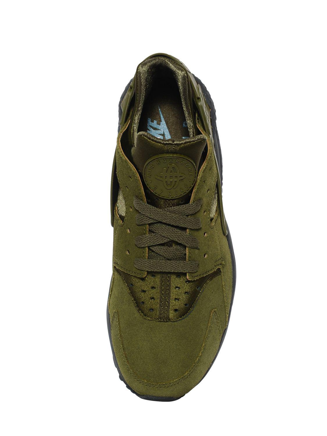8fdd40105c32 Lyst - Nike Air Huarache Faux Suede Sneakers in Green for Men