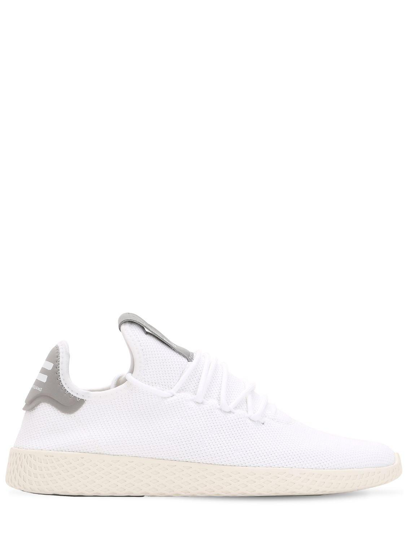 56dc096de Lyst - adidas Originals Pharrell Williams Knit Sneakers in White for Men
