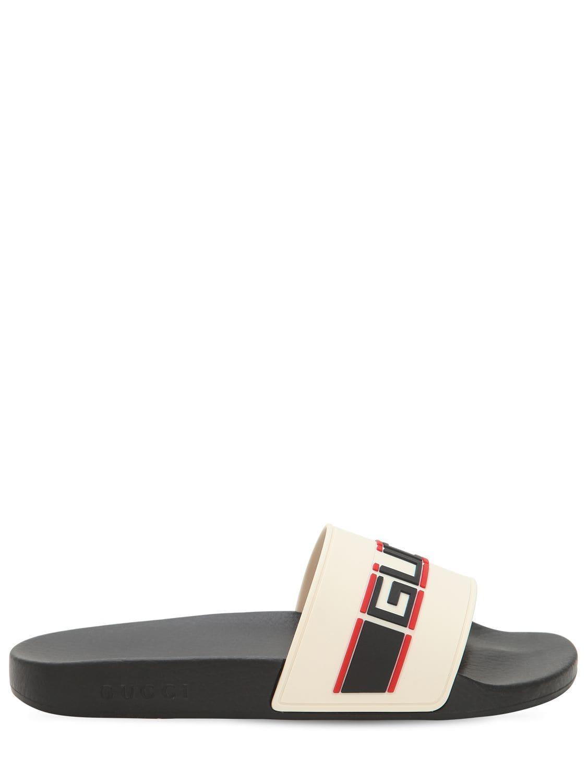 ed270852ded Lyst - Sandales En Caoutchouc Gucci pour homme en coloris Neutre