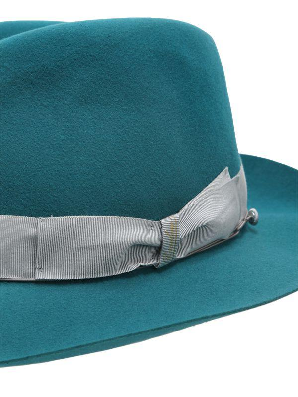 34d54dc74d1 Borsalino - Green 50gr Lightweight Fur Felt Hat for Men - Lyst. View  fullscreen
