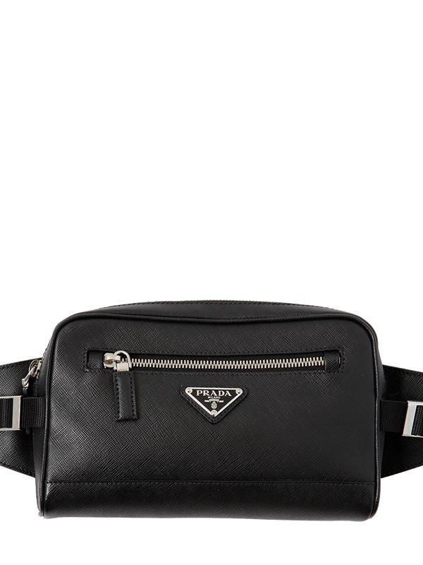 Prada - Black Saffiano Leather Crossbody Bag for Men - Lyst. View fullscreen f6c47737d4c2e