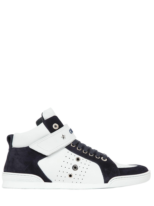 Jimmy chooSneaker high Lewis leather suede grey