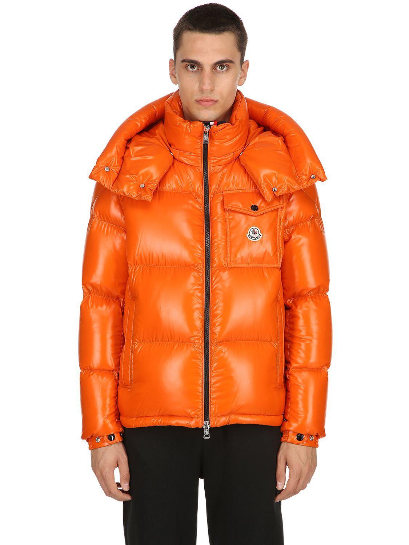 a3b1b271abb9 Lyst - Moncler Montbeliard Nylon Laqué Down Jacket in Orange for Men