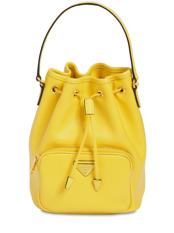 a519dd77eae7 Prada - Yellow Saffiano   City Leather Bucket Bag - Lyst. View fullscreen