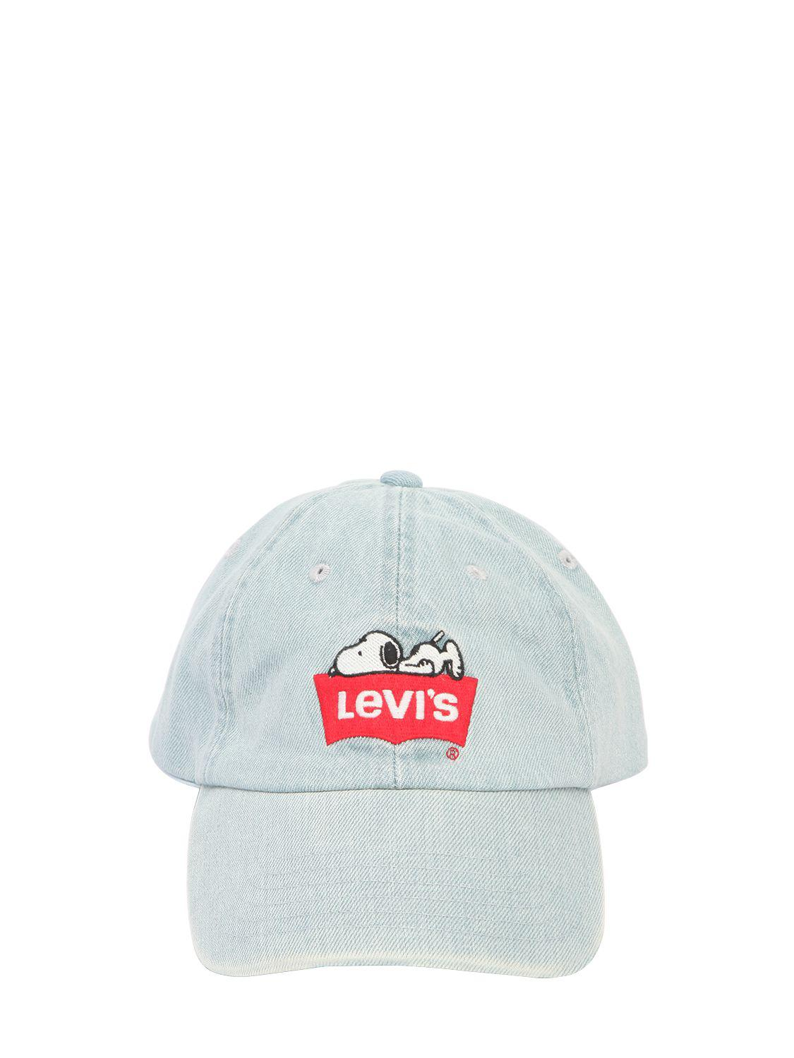 7f346118 Levi's Snoopy Embroidered Denim Baseball Hat in Blue for Men - Lyst