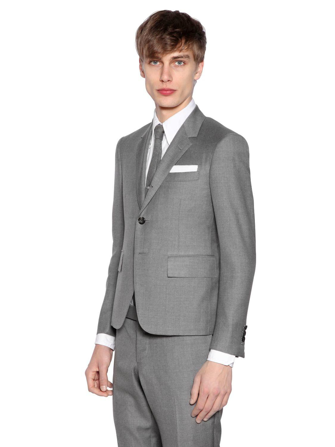 a004e6c24c8f Lyst - Thom Browne Skinny Fit Light Wool Gabardine Suit in Gray for Men -  Save 3%