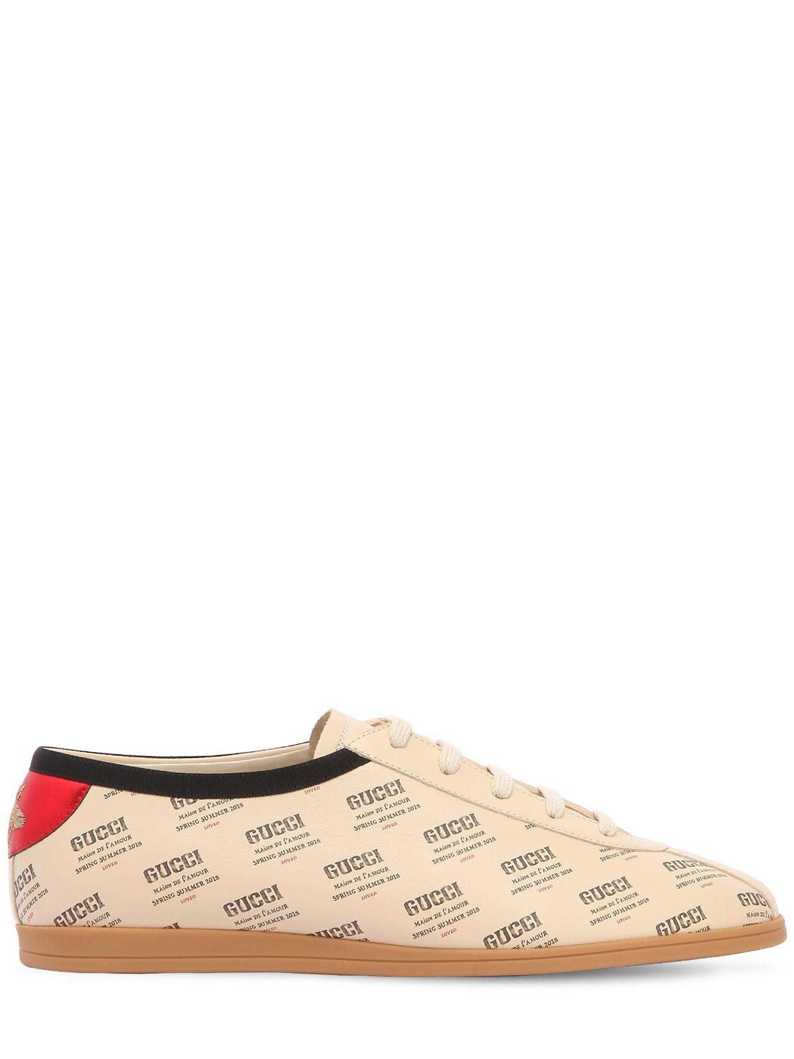 RQ8K315DqI FALACER LOGO PRINTED LEATHER SNEAKERS p0VhbeV