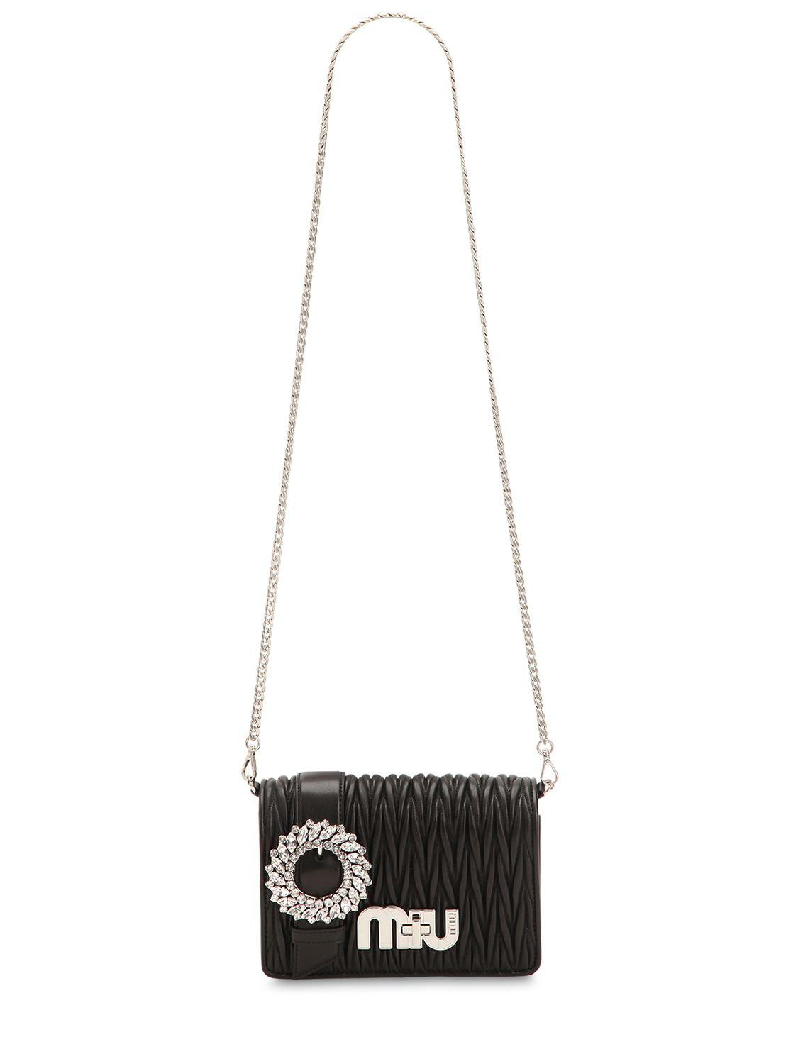 e17f0b18e0a7 Miu Miu - Black Mini Bag Shoulder Bag Women - Lyst. View fullscreen