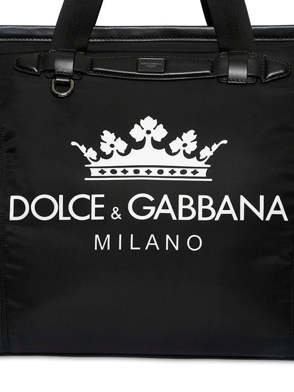 21afd9c937 Dolce   Gabbana - Black Logo Printed Nylon Gym Back for Men - Lyst. View  fullscreen