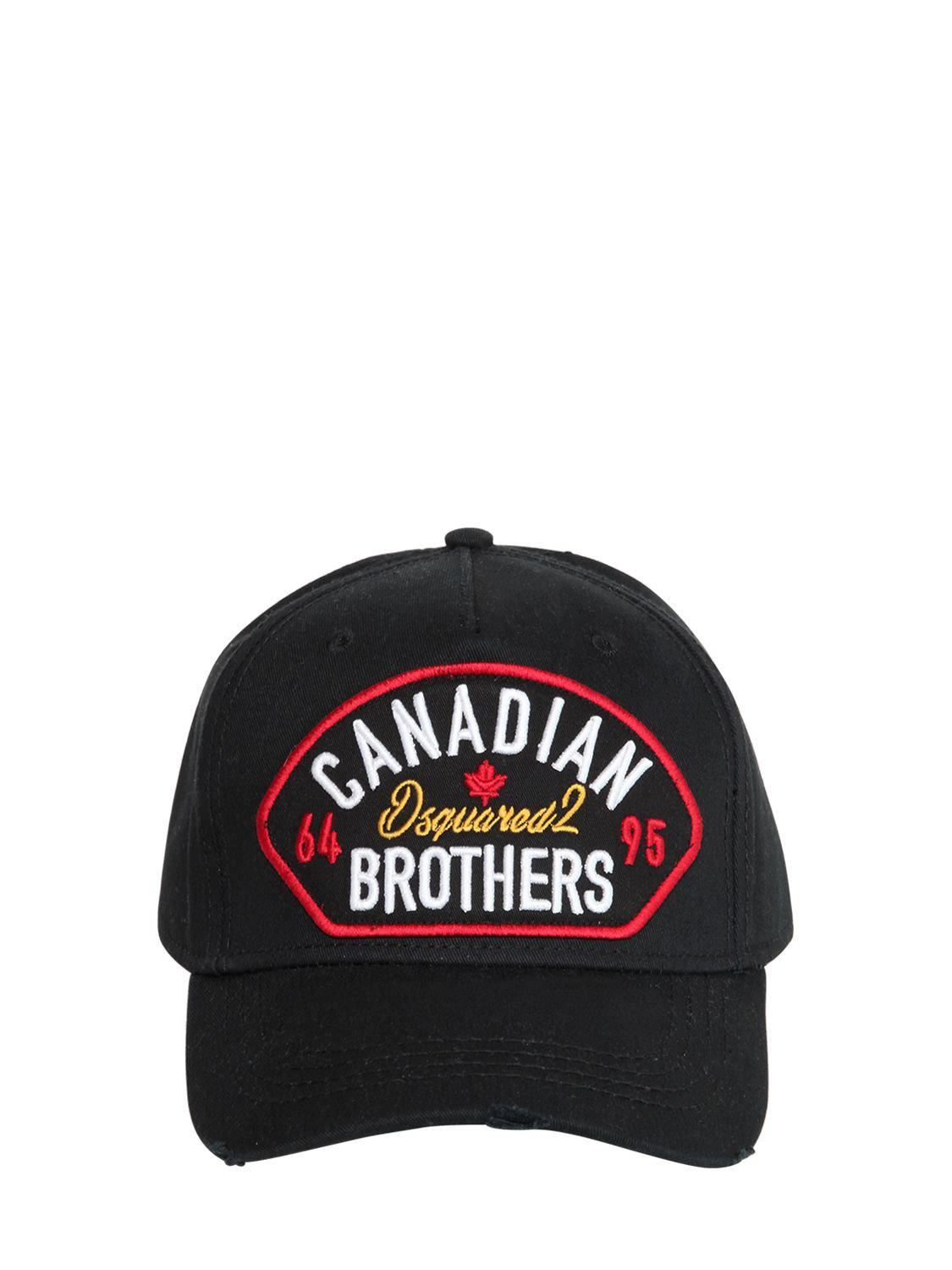DSquared² - Black Canadian Brothers Patch Baseball Hat for Men - Lyst. View  fullscreen 38a5bf6124d2