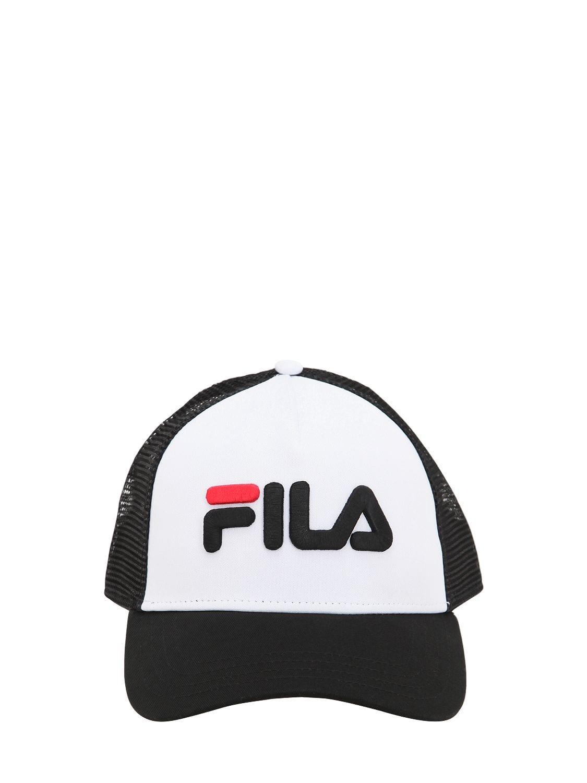 7bcdfb6d57e Fila Logo Color Block Baseball Hat in Black - Lyst