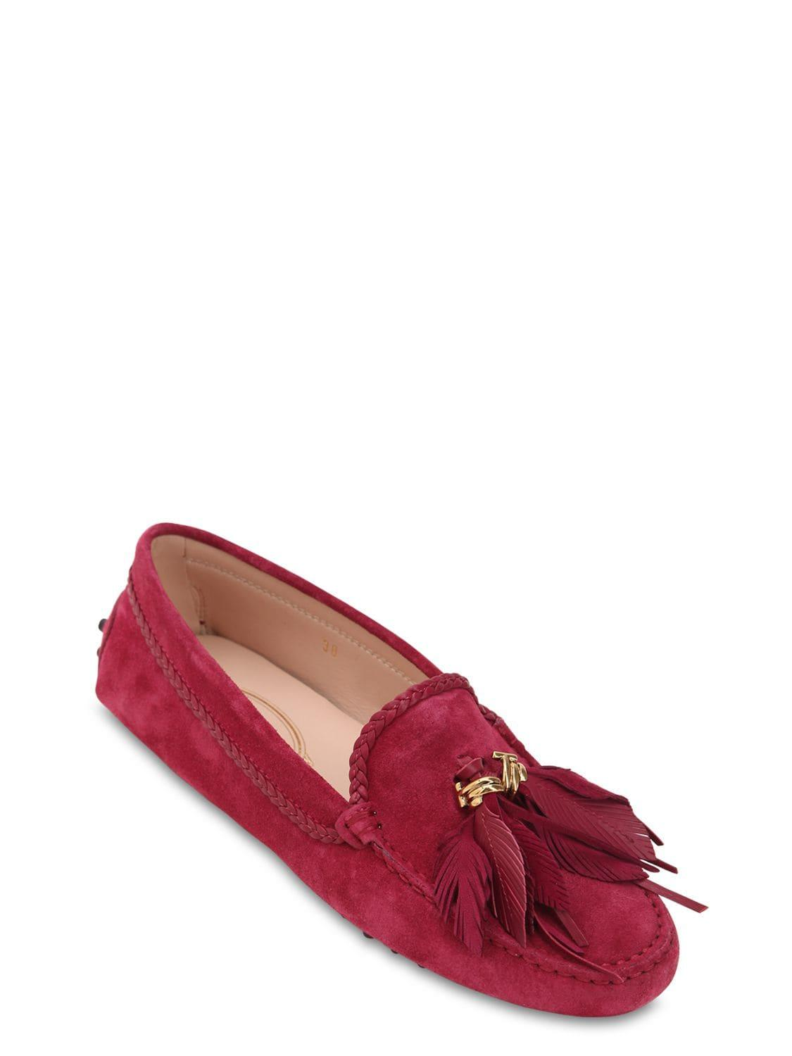 950b334091e Tod s - Red 10mm Gommino Leather Loafers W  Tassels - Lyst. View fullscreen