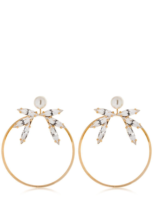 Anton Heunis gold plated pearl hoop earrings - Metallic KVpViv3NZ