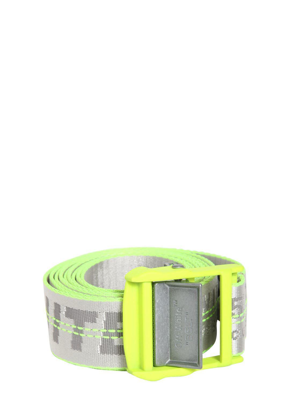 c89c2168b20e Lyst - Off-White c o Virgil Abloh 35mm Logo Industrial Nylon Belt ...