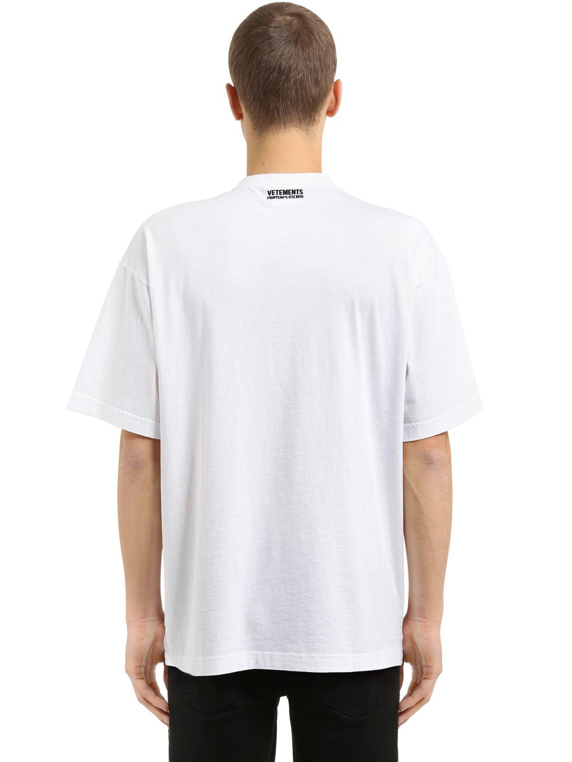 Vetements Oversized Haute Couture Jersey T Shirt In White