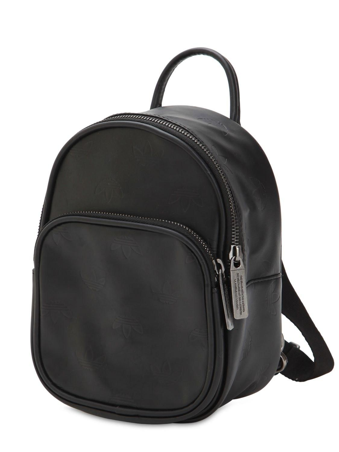 0716e12707 Lyst - adidas Originals Mini Classic X Faux Leather Backpack in Black