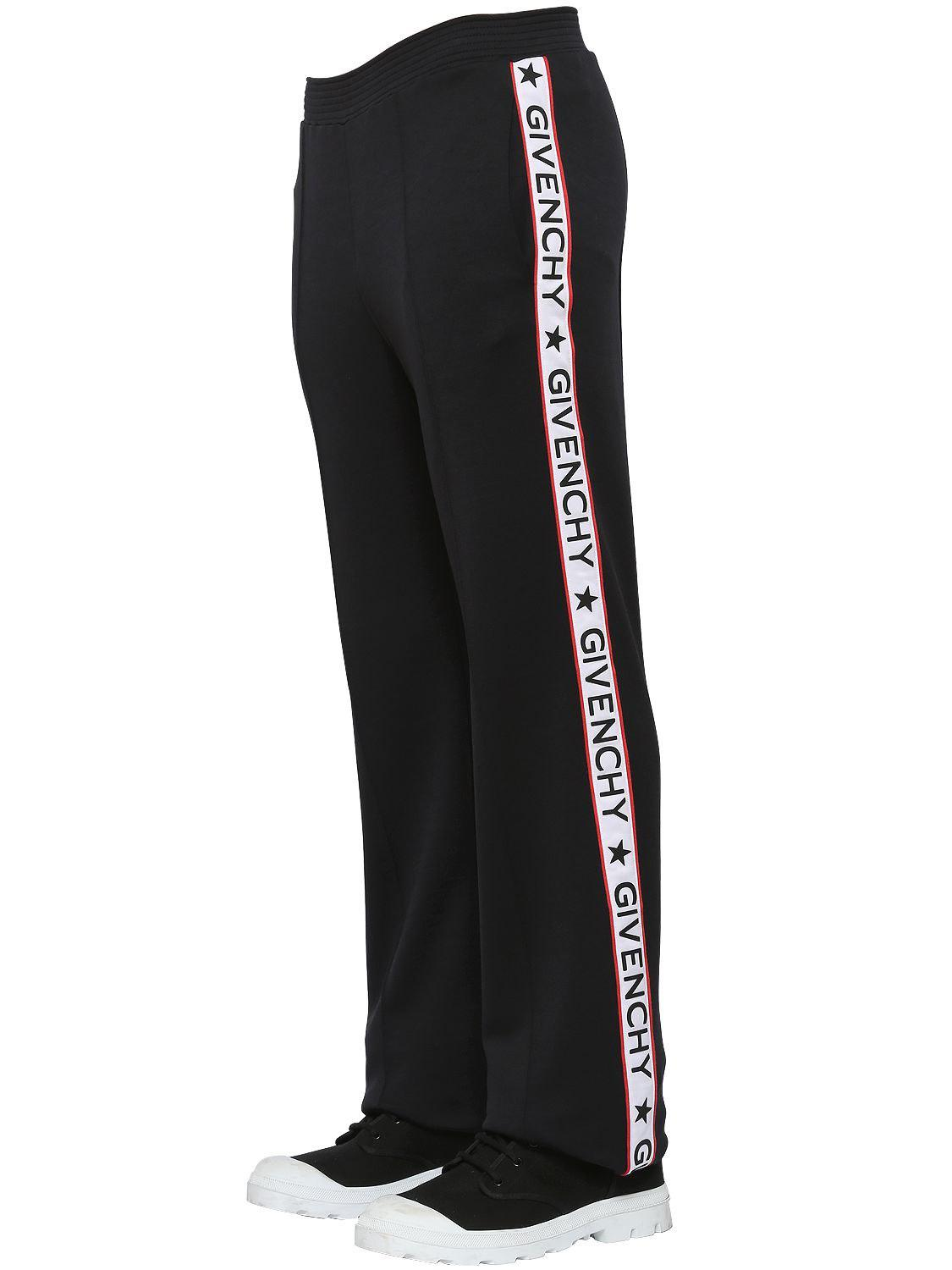 932852760821 Givenchy Acetate Jersey Track Pants W  Logo Bands in Black for Men ...
