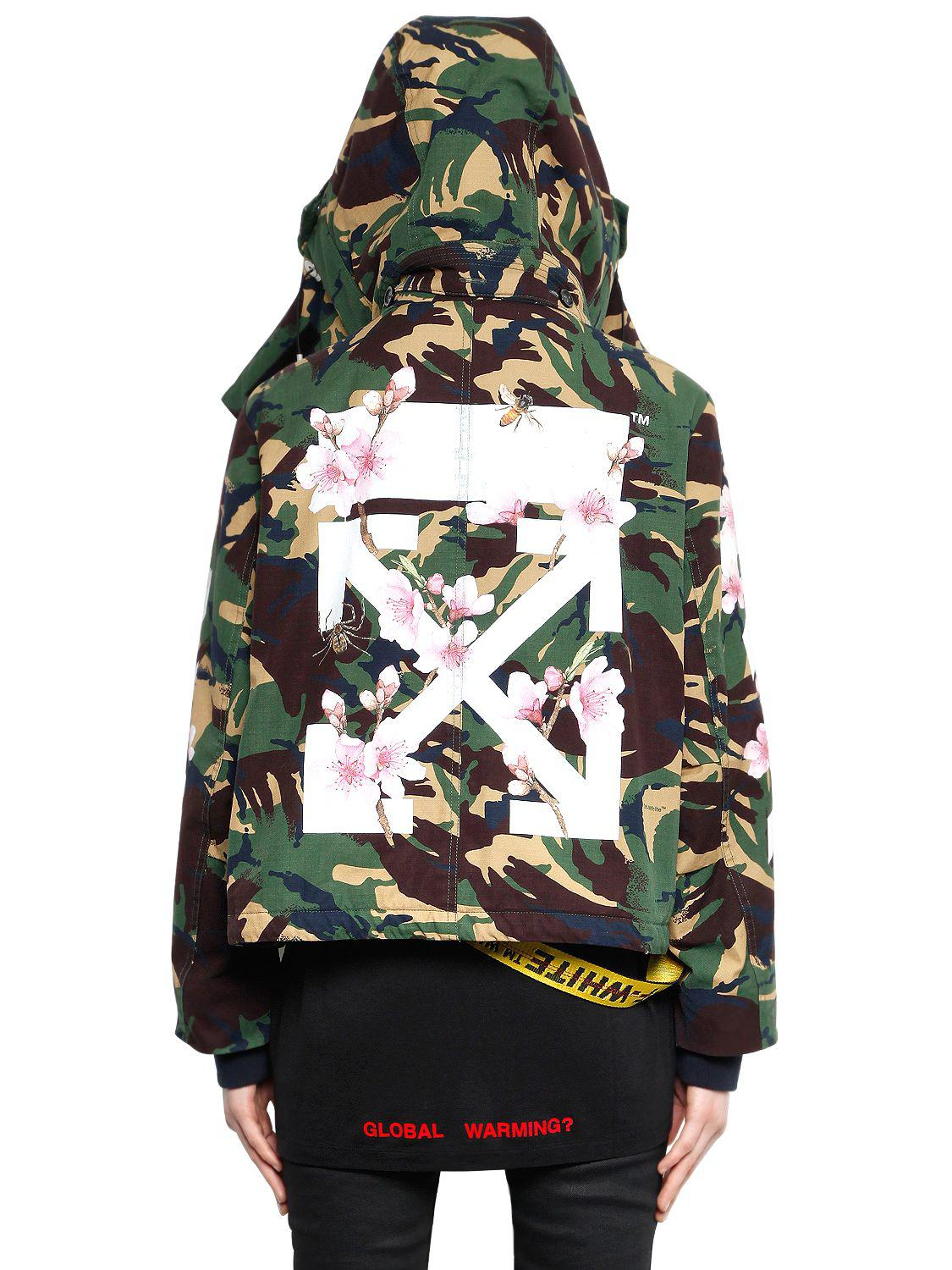 Lyst - Off-White c o Virgil Abloh M65 Camo   Cherry Blossom Canvas ... 015218af7