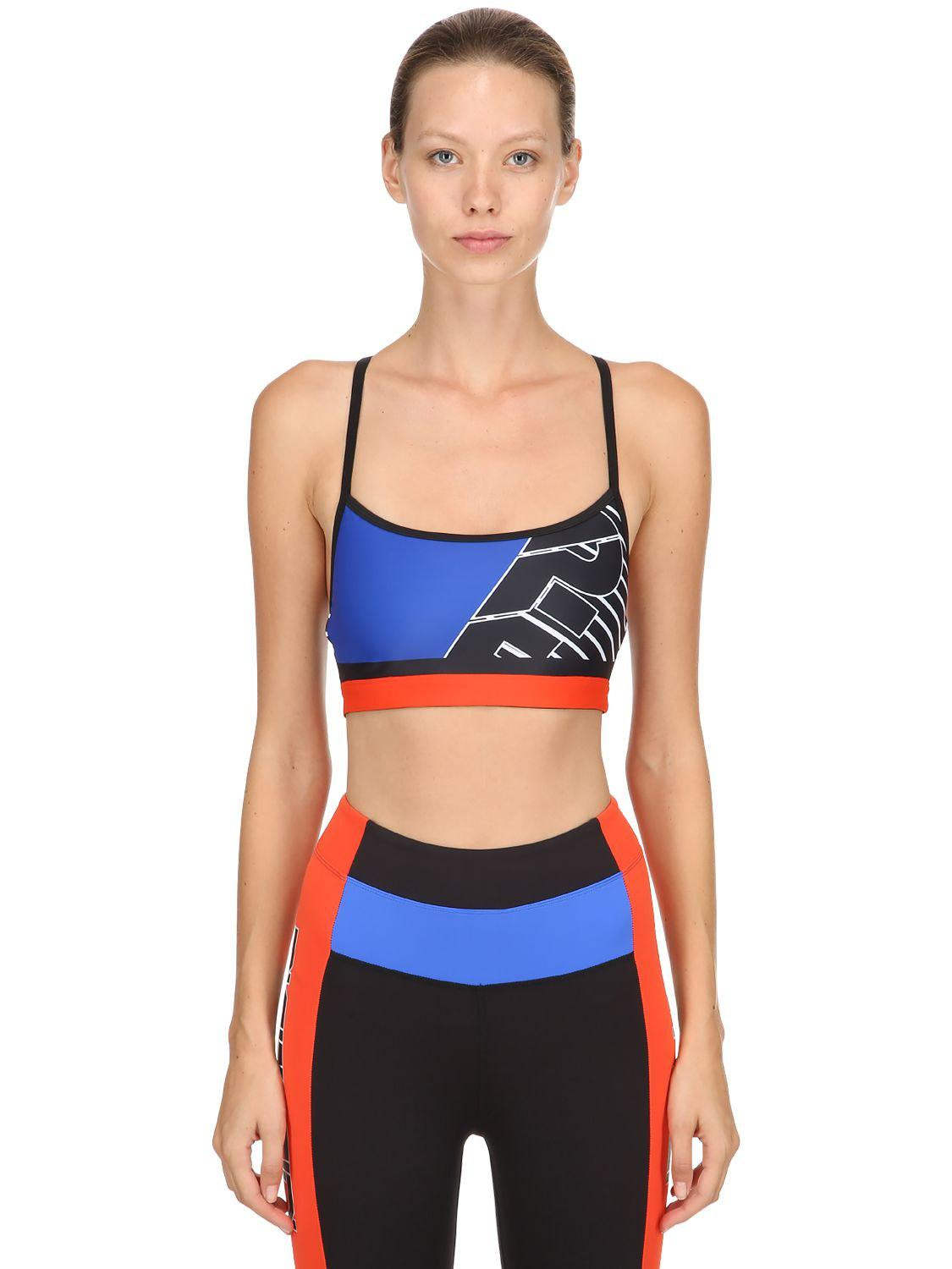 05115df5062c5 P.E Nation The Turnover Crop Sports Bra in Blue - Lyst