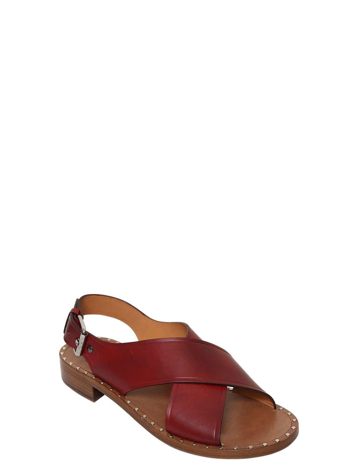 Church's 20MM CROSS OVER LEATHER SANDALS x4cuRm