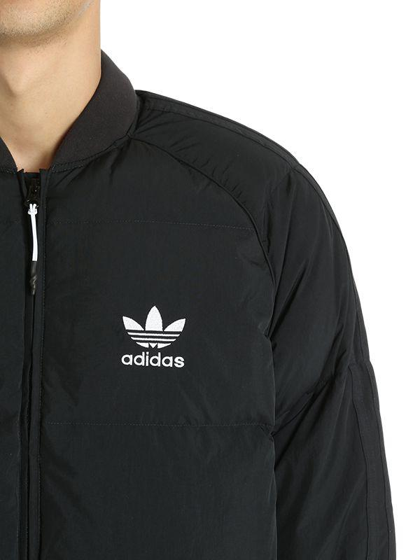38ba2b95d adidas Originals Sst Logo Padded Bomber Jacket in Black for Men - Lyst