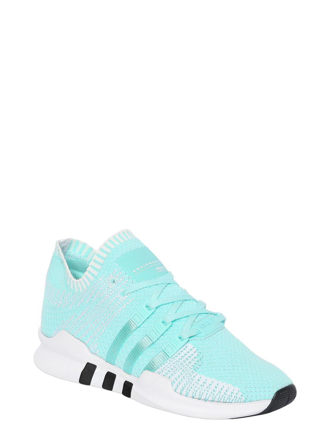 check out 7a625 db11d Adidas Originals - Blue Eqt Support Knit Sneakers - Lyst. View fullscreen