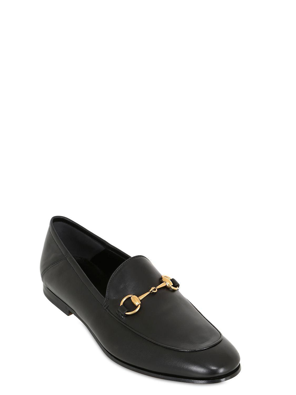 e0b9e73110c Lyst - Gucci Brixton Horsebit Soft Leather Loaferss in Black for Men