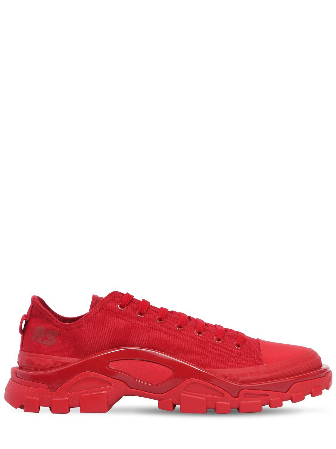 Lyst - adidas By Raf Simons Rs Detroit Runner Sneakers in Red for ... 0765bfe3b