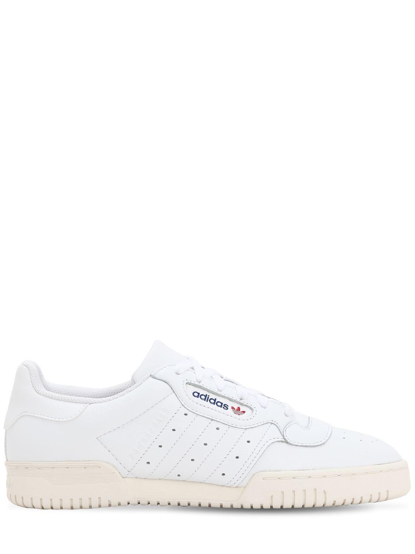 26c447ba95024 Lyst - adidas Originals Powerphase Premium Leather Sneakers in White ...
