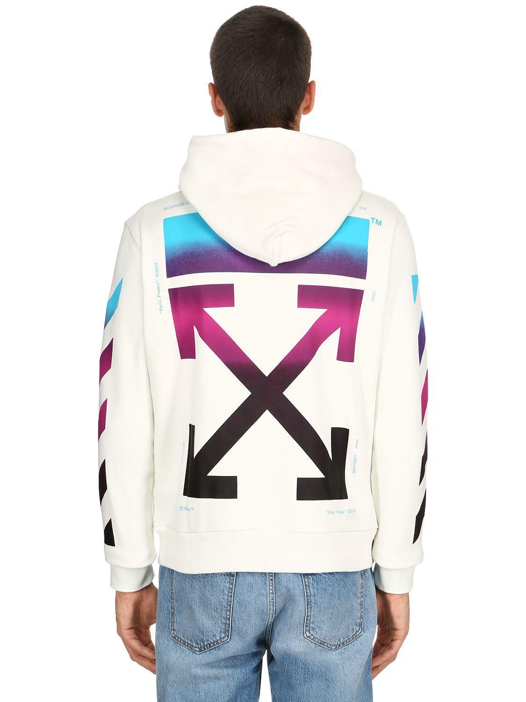 39f05b99a6d8 Lyst - Off-White c o Virgil Abloh Gradient Arrows Zip-up Sweatshirt ...