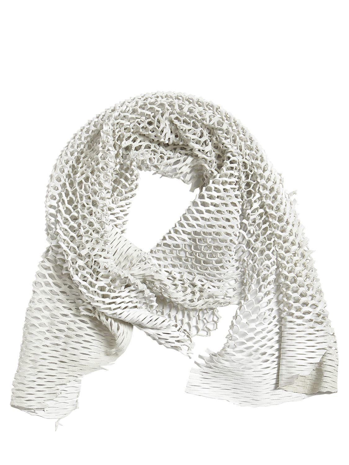 distressed layer detail large scarf - White Cutuli Cult i5cW1b