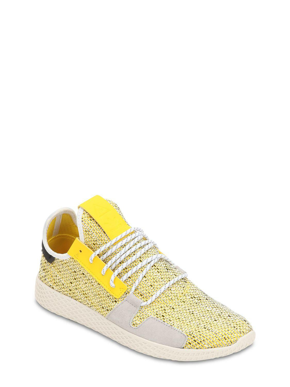 fbb1bc5b1 Lyst - adidas Originals Afro Tennis Hu V2 Primeknit Sneakers in Yellow for  Men