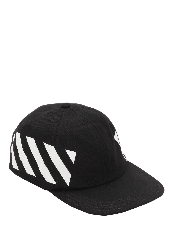 dabb41d3ad1 Off-White c o Virgil Abloh - Black Printed Cotton Canvas Baseball Hat for.  View fullscreen