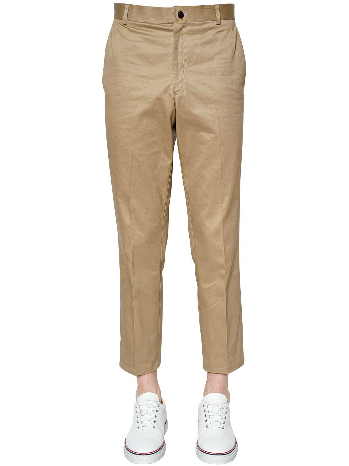 840d6bc6a0 Lyst - Thom Browne Light Cotton Twill Chino Pants in Natural for Men