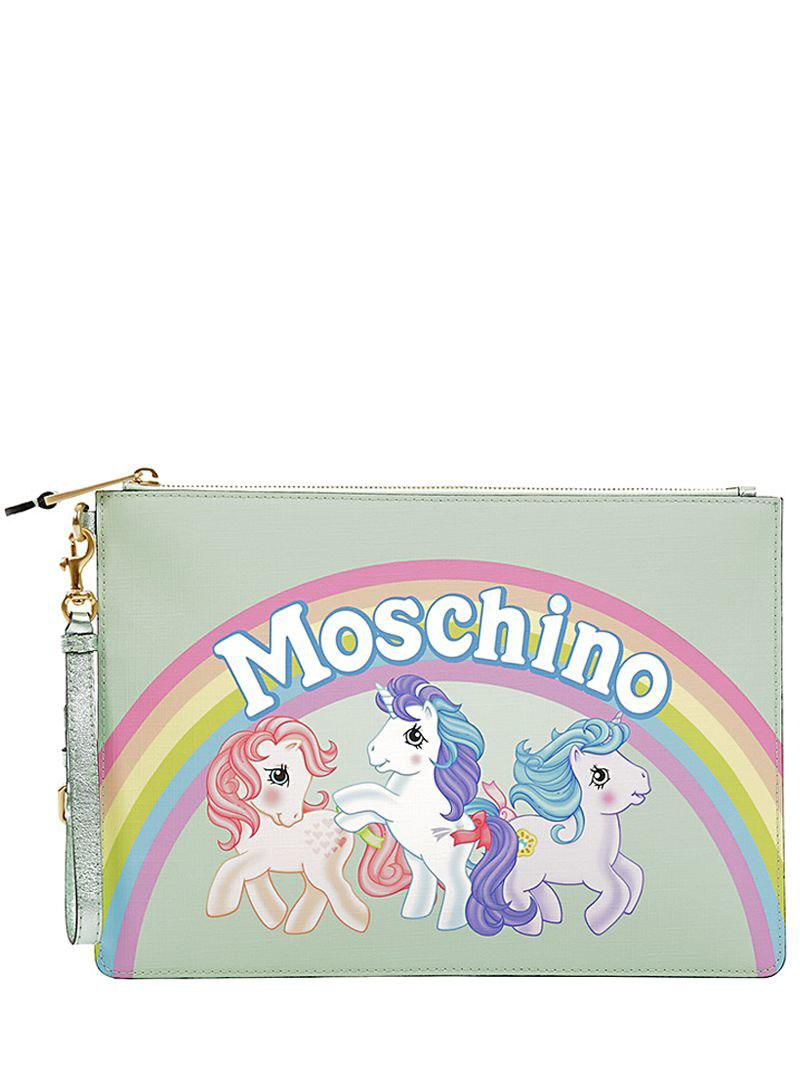 Moschino SMALL LITTLE PONY PRINTED POUCH 3Tmknj