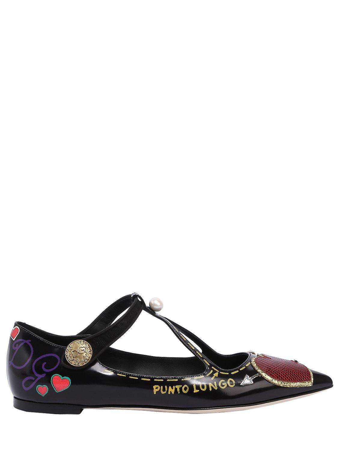 Dolce & Gabbana Pointed-Toe Multi-Strap Ballet Flats free shipping original new sale online wW4i6