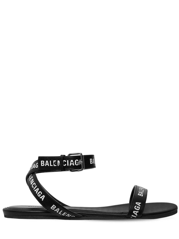 86532ef014f25 Lyst - Balenciaga Round Sandals in Black