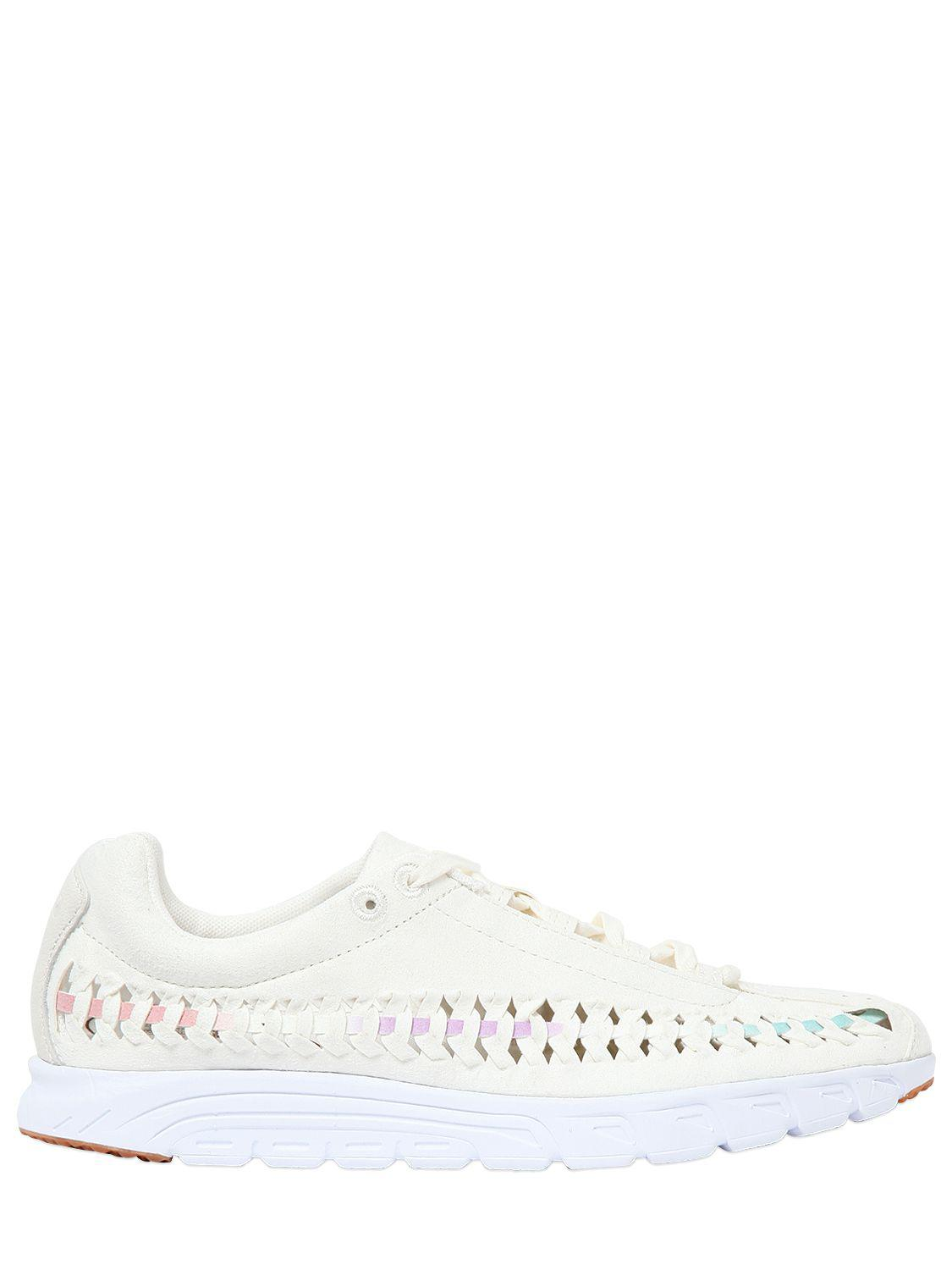 952c93fadf2269 Nike Mayfly Woven Suede Sneakers in White - Lyst