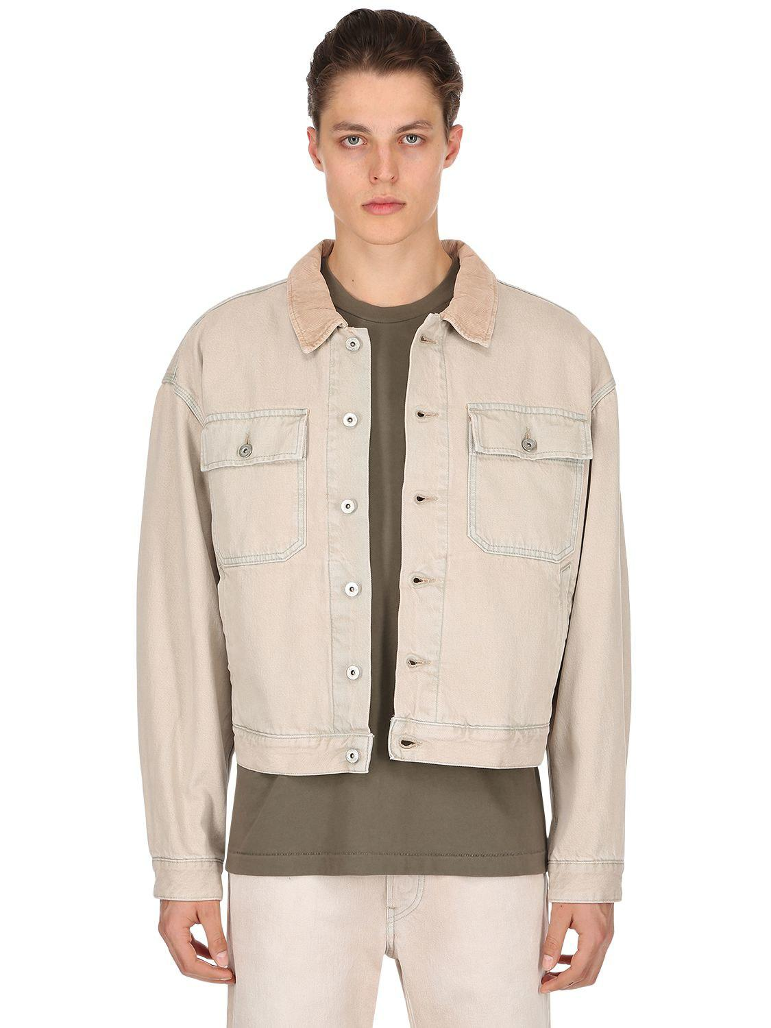 4d9c5079a02f Yeezy - Multicolor Oversize Stone Washed Denim Jacket for Men - Lyst. View  fullscreen