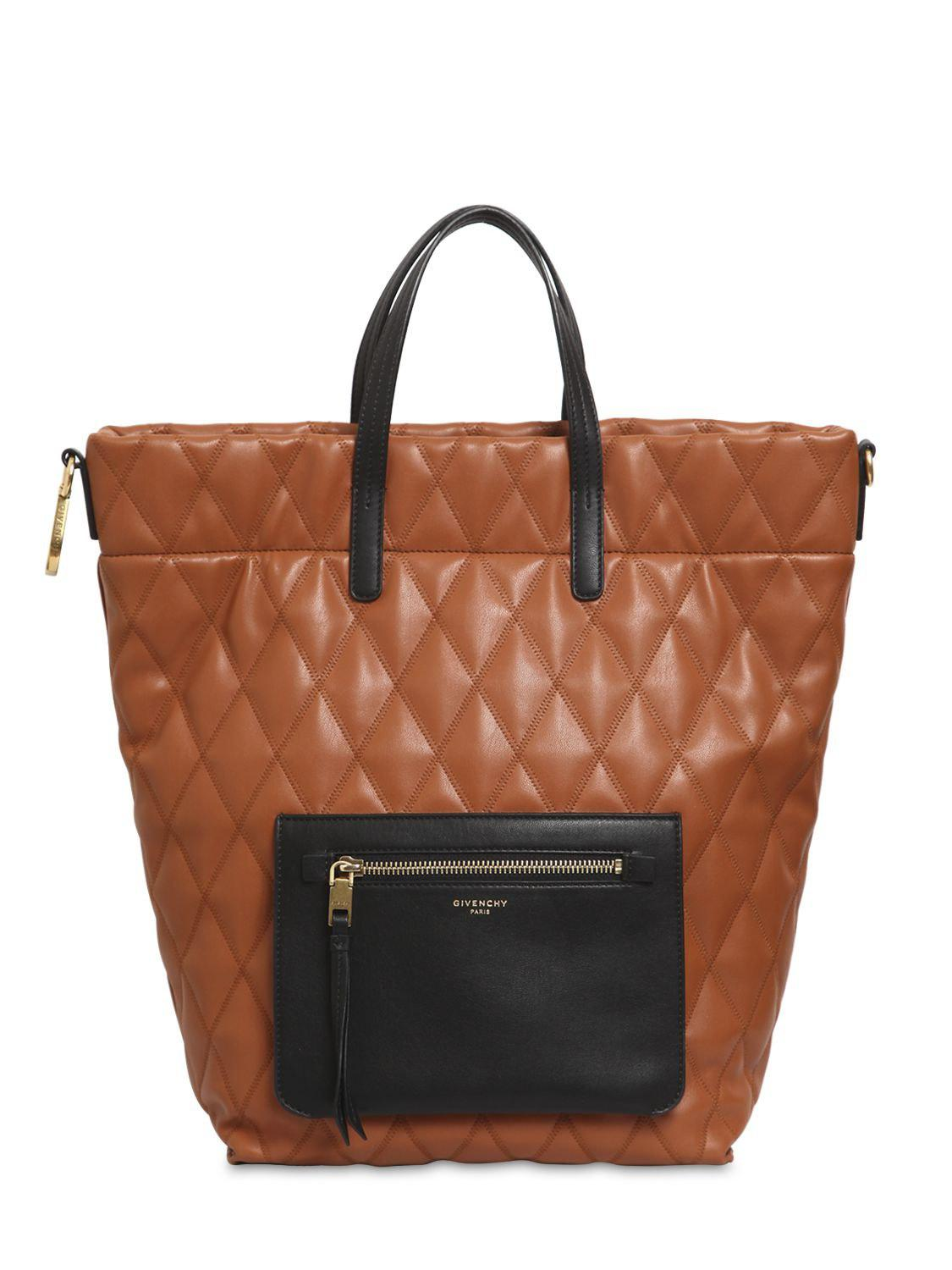 c20a940e0ab8 Lyst - Givenchy Small Duo Quilted Backpack in Brown