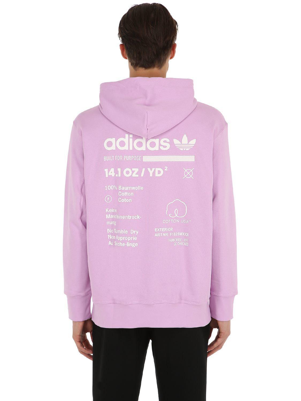 Coton Shirt Adidas Capuche Kaval En Lyst Originals À Sweat Aq5Yp