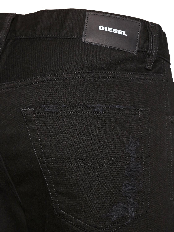 Diesel black 16 5cm mharki slim destroyed denim jeans for men lyst view fullscreen