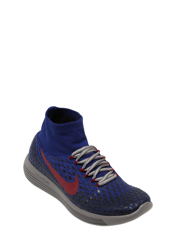 the best attitude 549cf c3e91 Lyst - Nike Nikelab Lunarepic Flyknit Shield Sneaker in Blue for Men