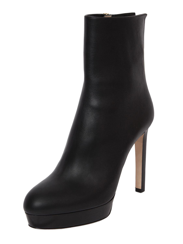 Jimmy Choo - Black 115mm Majesty Leather Boots - Lyst. View fullscreen