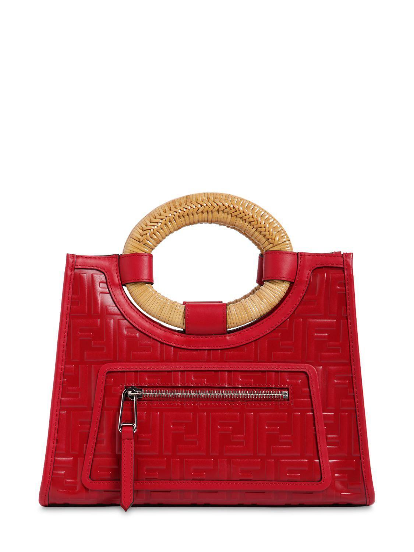 5e051548b10b Lyst - Fendi Small Runaway Tote Bag in Red