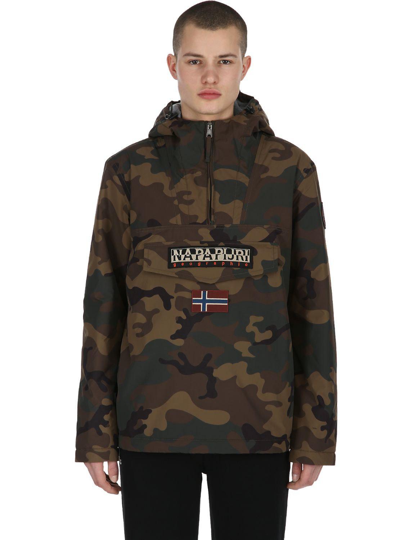 e90951bc2d2df Napapijri Rain Forest Camo Anorak Jacket in Green for Men - Lyst