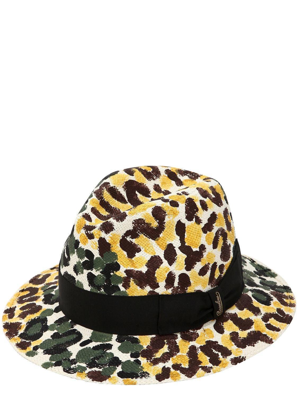 Lyst - Borsalino Quito Hand Painted Medium Panama Hat for Men 3da3efa98d05