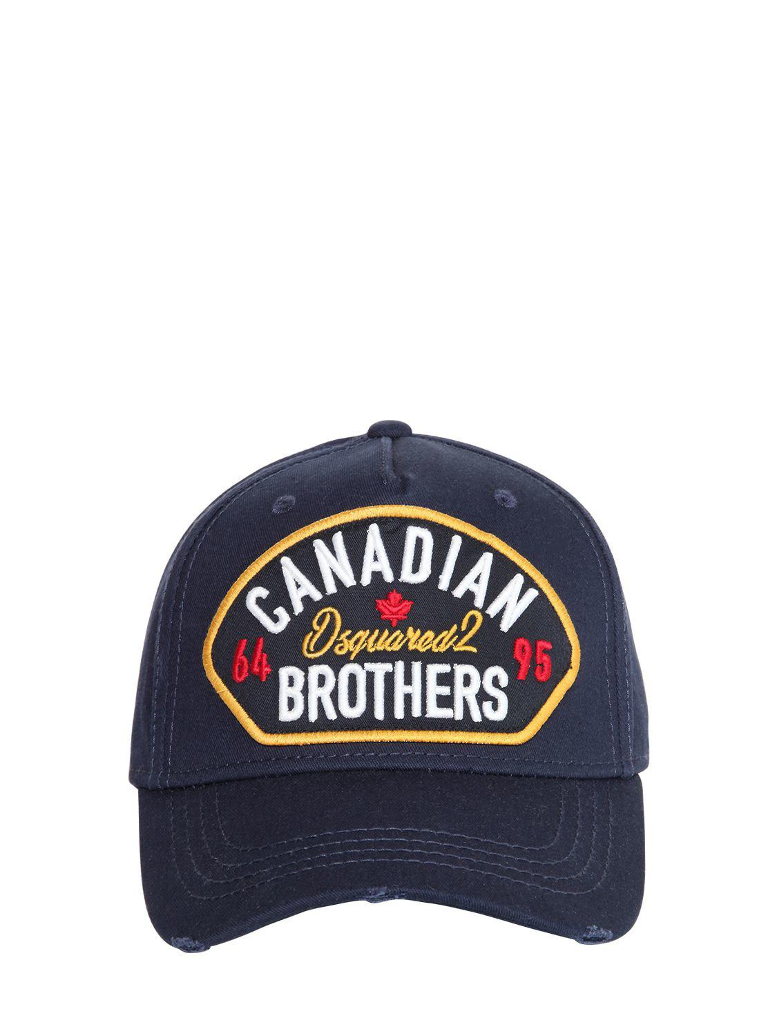275496ed510 Lyst - Dsquared² Canadian Brothers Patch Baseball Hat in Blue for Men