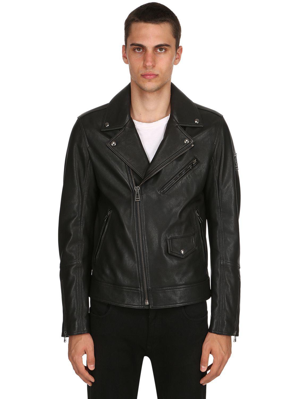 b10552142724 Lyst - Belstaff Fenway Leather Jacket in Black for Men